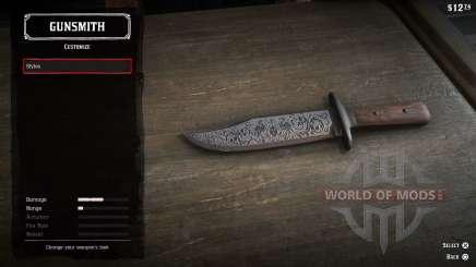 Lanzar cuchillos en RDR 2