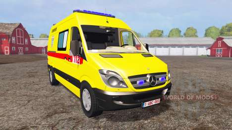 Mercedes-Benz Sprinter 311 CDI Ambulance para Farming Simulator 2015