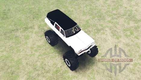 Cadillac Fleetwood hearse monster para Spin Tires