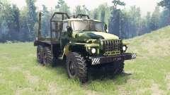 El color es el Verano de camuflaje para Ural 4320 para Spin Tires