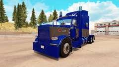La piel Azul y Gris para el camión Peterbilt 389