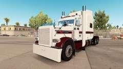 Blanco de la piel E en el camión Peterbilt 389