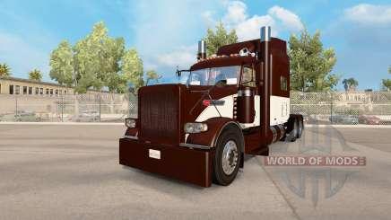 Piel Crema Y Marrón para el camión Peterbilt 389 para American Truck Simulator