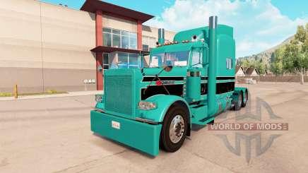 La piel de color Turquesa negro para el camión Peterbilt 389 para American Truck Simulator