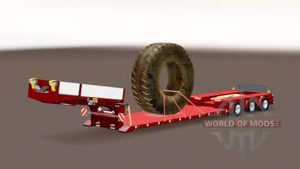 Trailer Doll Vario with big wheel para Euro Truck Simulator 2
