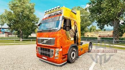 La piel de Piratas del Caribe en Volvo trucks para Euro Truck Simulator 2