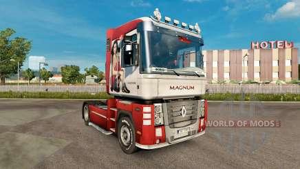 La piel de Irina Shayk en una unidad tractora Renault Magnum para Euro Truck Simulator 2