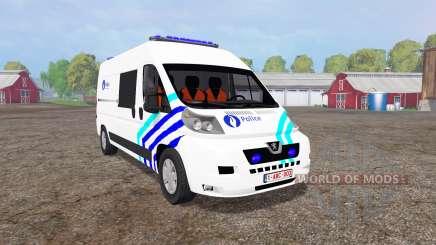 Peugeot Boxer Police vitre v1.1 para Farming Simulator 2015