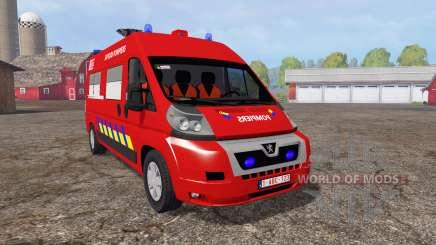 Peugeot Boxer sapeurs-pompiers para Farming Simulator 2015