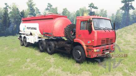 Color Pertamina for KAMAZ 6520 para Spin Tires