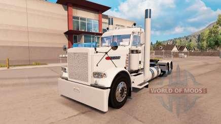 Aldeano piel blanca para el camión Peterbilt 389 para American Truck Simulator