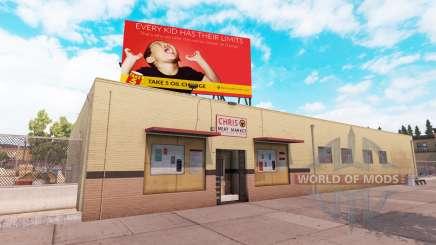 Real billboards v2.0 para American Truck Simulator