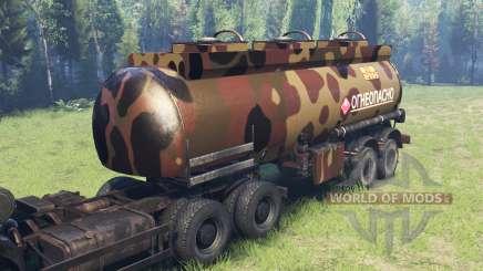 Color Desert camo en el tanque de combustible para Spin Tires