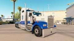 La piel Azul y Gris en el camión Kenworth W900