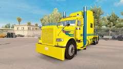 Blue streak de la piel para el camión Peterbilt