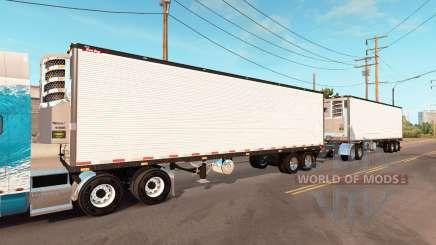 Double refrigerated trailer Great Dane para American Truck Simulator