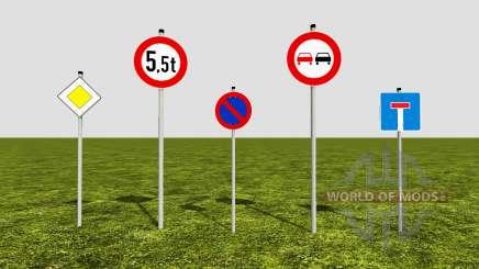 Road signs para Farming Simulator 2017