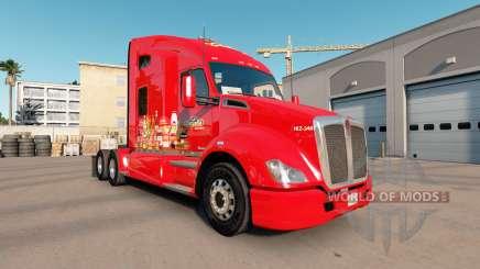 La piel de La Costena en el tractor Kenworth T680 para American Truck Simulator