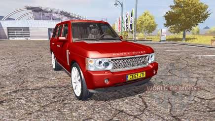 Land Rover Range Rover Supercharged 2009 v2.0 para Farming Simulator 2013