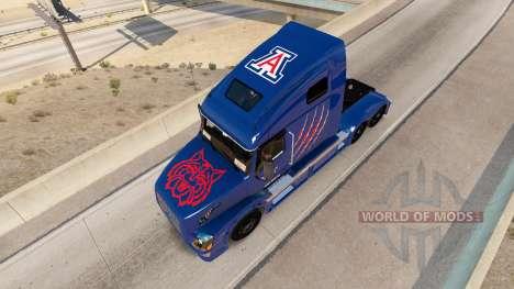 Arizona Wildcats de la piel para camiones Volvo  para American Truck Simulator