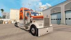 La piel Gris Naranja en el camión Kenworth W900