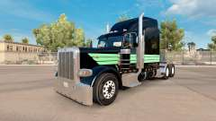 La piel de Menta Verde y Negro para el camión Pe