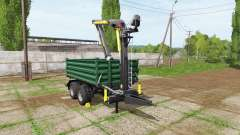 Fliegl timber trailer