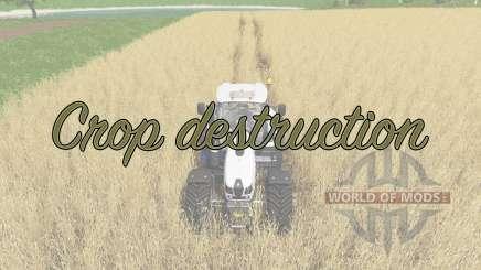 Crop destruction para Farming Simulator 2017