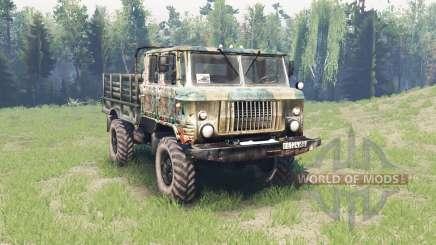 GAZ 66 doble cabina para Spin Tires
