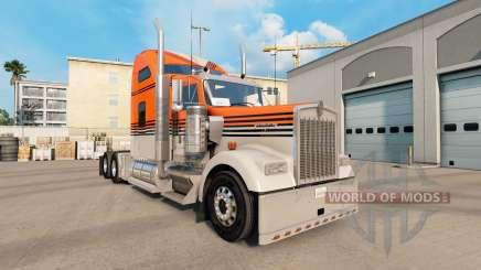 La piel Gris Naranja en el camión Kenworth W900 para American Truck Simulator