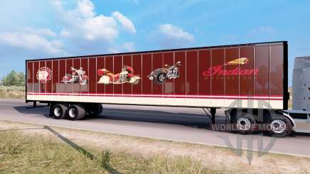 Indian Motorcycles box trailer para American Truck Simulator