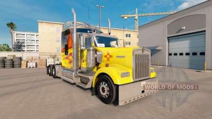 La piel de Nuevo México en el camión Kenworth W900 para American Truck Simulator