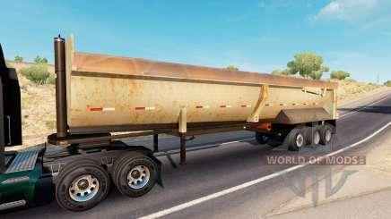 Rusty dumps trailer para American Truck Simulator