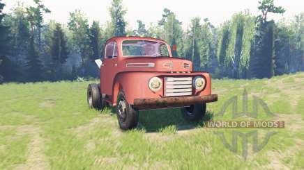 Ford F-6 1950 Stubby Bob para Spin Tires