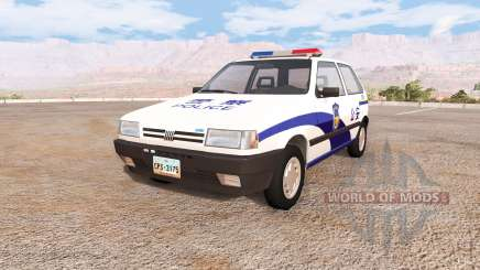 Fiat Uno chinese police para BeamNG Drive