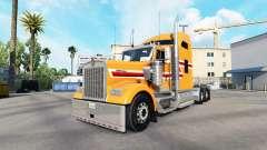 La piel de Polvo de Naranja en el camión Kenwort