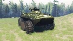 BTR 82A (GAZ-59034) híbrido para Spin Tires
