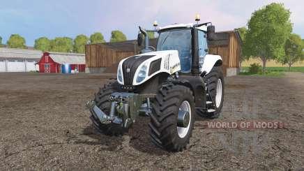 New Holland T8.435 white v1.1 para Farming Simulator 2015