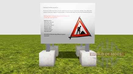Cercas obras de construcción de v1.2 para Farming Simulator 2015