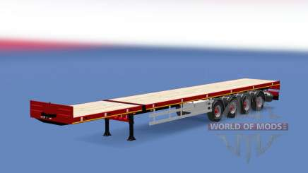 Doll flatbed trailer para Euro Truck Simulator 2