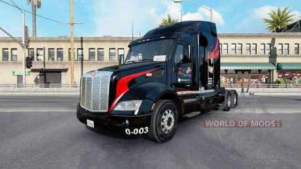La Piel M.&.Camiones v1.1 en el tractor Peterbilt 579 para American Truck Simulator