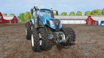 New Holland T8.320 twin wheels para Farming Simulator 2015
