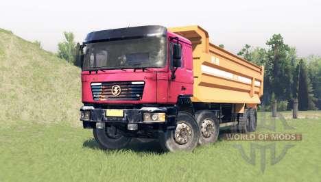 Shacman F2000 8x4 para Spin Tires