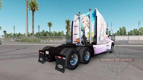 Super Sonico de la piel para el camión Peterbilt para American Truck Simulator