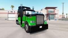 La piel Negra Y Verde para el camión Peterbilt 3