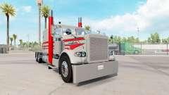 La piel Gris Y Rojo para el camión Peterbilt 389 para American Truck Simulator