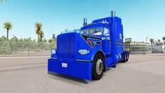 Azul de la piel Dura para el camión Peterbilt 38