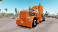 La piel de Naranja Gris para el camión Peterbilt