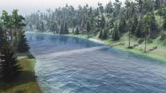 El flujo del río para Spin Tires