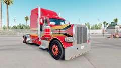 La piel del Bebé Rojo en el camión Peterbilt 389